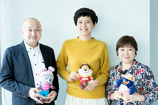 左から:北爪努、菊池亜希子、よこざわけい子