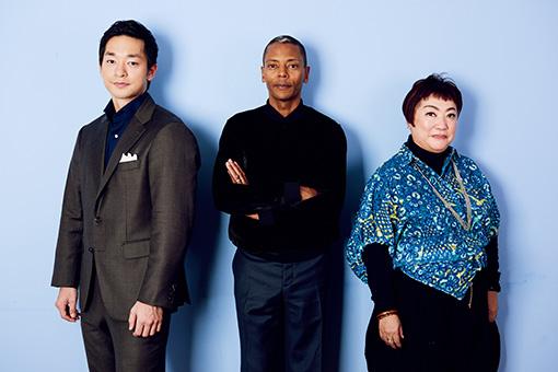 左から:五嶋龍、ジェフ・ミルズ、湯山玲子