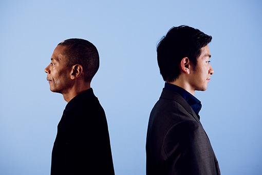 左から:ジェフ・ミルズ、五嶋龍