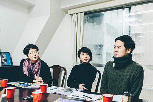 左から:岡村滝尾、林香菜、新田幸生