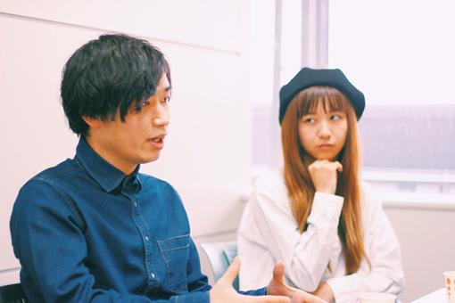 左から:内田旭彦、森彩乃