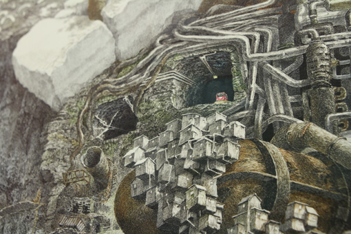 『Meltdown』部分 2013年 紙にペン、インク 122×122cm Collection of Chazen Museum of Art ©IKEDA Manabu / Courtesy Mizuma Art Gallery