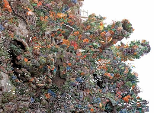 『再生』部分 2001年 紙にペン、インク 162×162cm 浜松市美術館蔵 ©IKEDA Manabu / Courtesy Mizuma Art Gallery