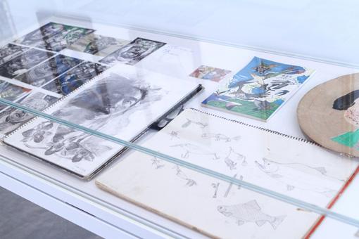 金沢21世紀美術館には、池田の少年時代の絵も展示されている