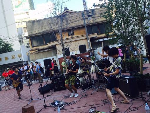2016年7月のライブ写真。千葉県柏市『柏まつり』にて