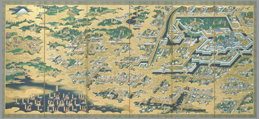 『江戸図屏風』17世紀(江戸時代初)国立歴史民俗博物館蔵