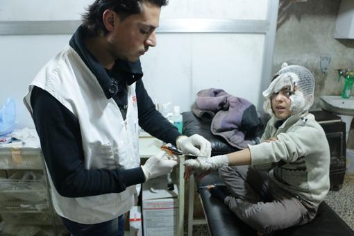 シリア内戦が始まってから6年が過ぎてなお事態は収まらず、その苦しみは国内外に広がっている ©MSF