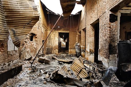 2015年10月3日、アフガニスタン北部クンドゥーズで国境なき医師団が運営していた病院が米軍によって1時間以上にわたる空爆を受けた ©Andrew Quilty