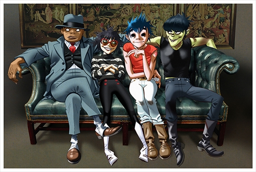 Gorillaz(左から:ラッセル・ホブス、ヌードル、2D、マードック・ニカルス)