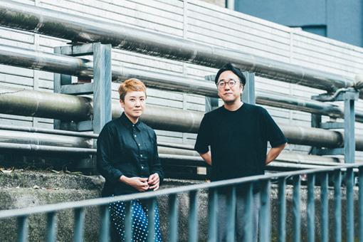 左から:山崎ゆかり(空気公団)、藤枝憲(Spangle call Lilli line  / Coa Records)