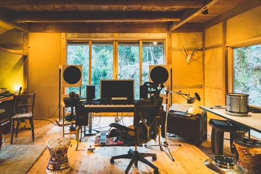 自宅のスタジオ