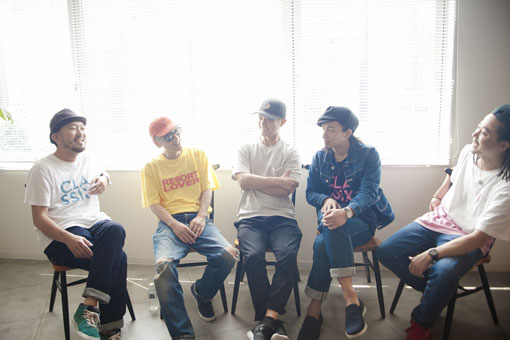 左から:TAROW-ONE、BASI、サッコン、Shyoudog、TAKU