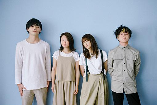 左から:小林壱誓(Gt)、peppe(Key)、長屋晴子(Vo)、穴見真吾(Ba)