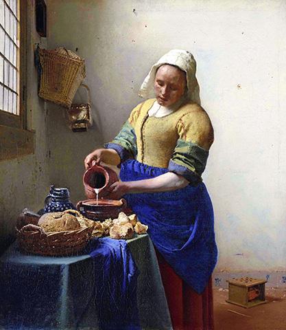 Johannes Vermeer - De melkmeid 『牛乳を注ぐ女』