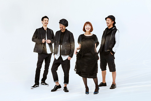 jizueの最新アーティスト写真。左から:山田剛、井上典政、片木希依、粉川心