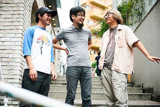 左から:三浦崇志、大力拓哉、しりあがり寿