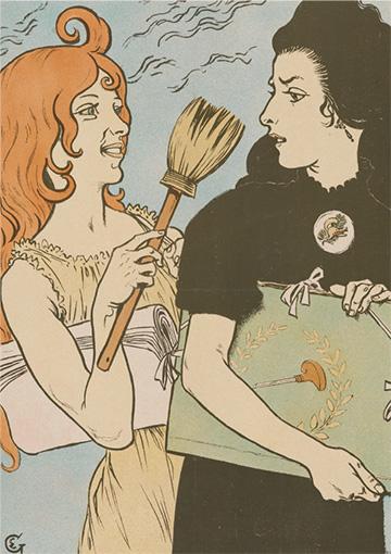 ウジェーヌ・グラッセ『版画とポスター(『版画とポスター』誌のためのポスター)』(1897年)ファン・ゴッホ美術館蔵