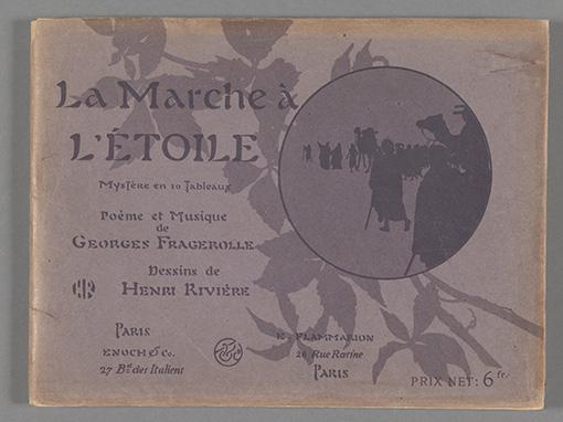 アンリ・リヴィエール『「星への歩み」楽譜集』(1899年)ファン・ゴッホ美術館蔵