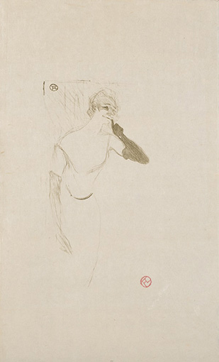 アンリ・ド・トゥールーズ=ロートレック『「ピエロにはコロンビーヌ」のイヴェット・ギルベール』(1894年)三菱一号館美術館蔵