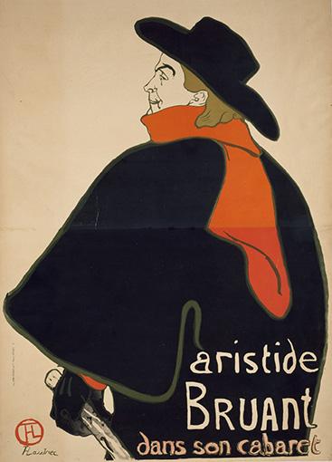 アンリ・ド・トゥールーズ=ロートレック『アリスティド・ブリュアン、彼のキャバレーにて』(1893年)三菱一号館美術館蔵