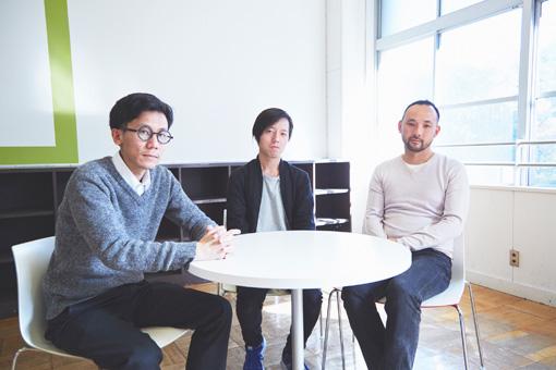 左から:中島晴矢、原田裕規、石井友人 / 取材は『NEWTOWN』開催会場の小学校で行われた