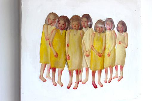 女の子をモチーフにした、中谷ミチコの初期作品