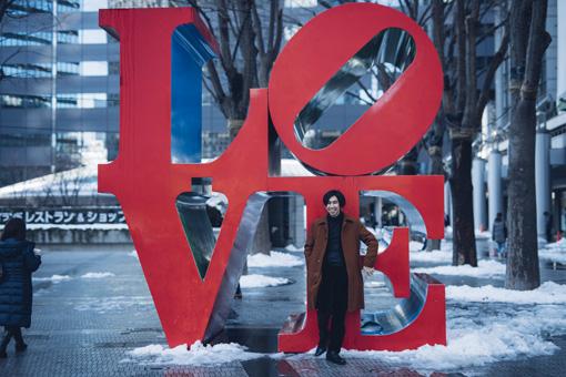Robert Indiana『LOVE』と原田夏樹