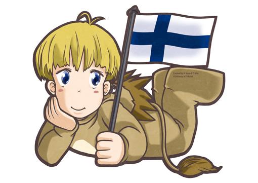 駐日フィンランド大使館のマスコットキャラクター フィンたん
