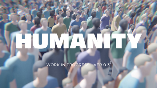 "Crowd action game ""HUMANITY"" is coming in 2018.