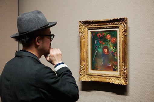 『祈り、顔、花』(1893年頃)ボルドー美術館(オルセー美術館より寄託)