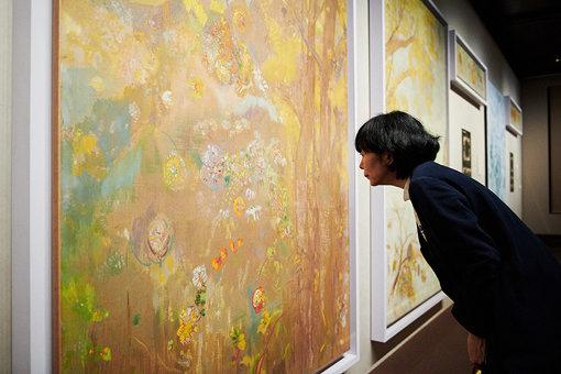 ドムシー男爵の城館の食堂壁画15枚のうち、『黄色い背景の樹』(1900-1901年)オルセー美術館蔵