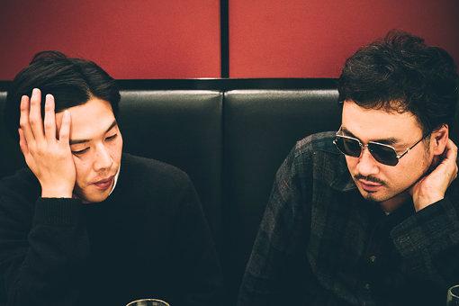 レコーディング風景 / 左から:荒内佑(cero)、前野健太
