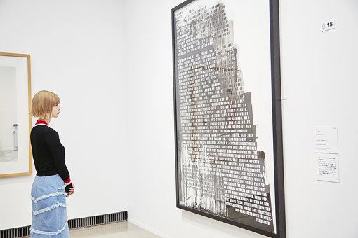 ひとくちにヌードといっても、文字で表現された作品もあり、形態は多岐にわたる / フィオナ・バナー 『吐き出されたヌード』 2007年