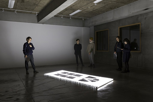 ミンウー・リーによる展示風景(ロングステイ・プログラム)/松戸観光案内所2F 写真:冨田了平