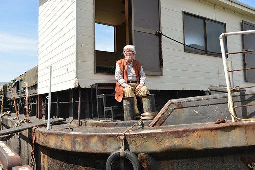 横浜ボートシアターの船と遠藤啄郎