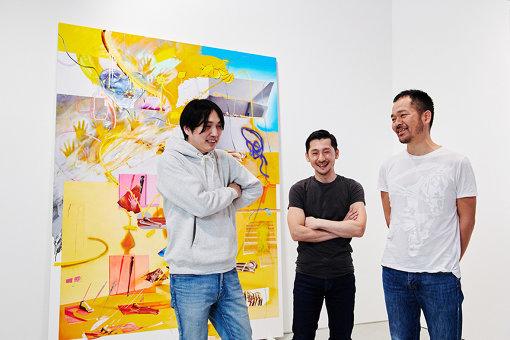 森田とともに『FFKT』に携わる、元『TAICOCLUB』メンバー。左から:大谷飛太、岡田彰、森田健太郎