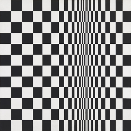 『正方形の動き』(1961年)アーツ・カウンシル、ロンドン蔵 © Bridget Riley 2018, all rights reserved. Courtesy Karsten Schubert, London.