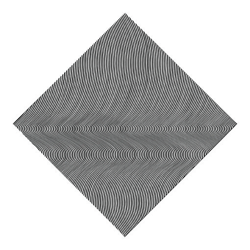『波頭』(1964年)ブリティッシュ・カウンシル蔵 © Bridget Riley 2018, all rights reserved. Courtesy David Zwirner, New York/ London.