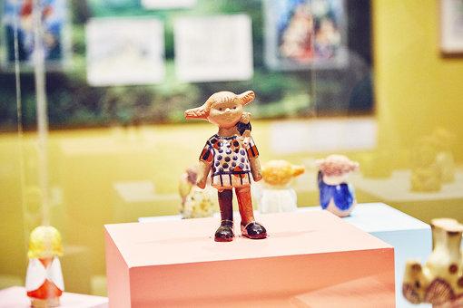 リンドグレーンと交流のあったリサ・ラーソンが、1960年につくったピッピ人形