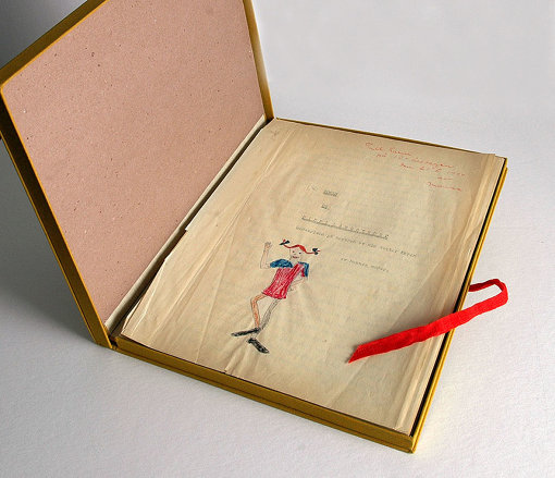 アストリッド・リンドグレーン作・画 『オリジナルピッピ』 1944年 カーリン・ニイマン(リンドグレーンの娘)私物<br> Text and illustration Astrid Lindgren © The Astrid Lindgren Company. Courtesy of The Astrid Lindgren Company