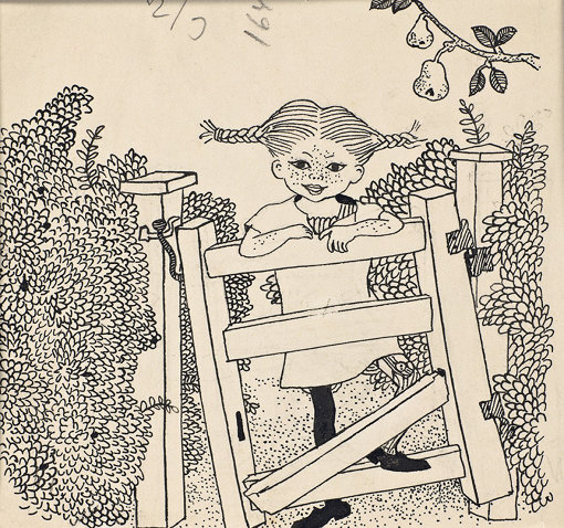 """イングリッド・ヴァン・ニイマン 「『ピッピ 船にのる』挿絵原画」1952年 スウェーデン王立図書館所蔵(ユネスコ""""世界の記憶""""登録)<br> Illustration Ingrid Vang Nyman © The Astrid Lindgren Company. Courtesy of the National Library of Sweden, Stockholm"""