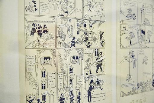 漫画版の原画展示