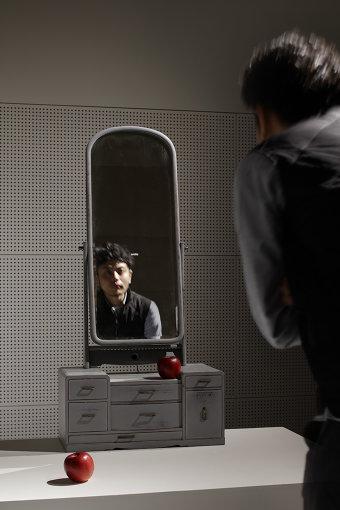 『LINK OF LIFE エイジングは未来だ』展で展示した作品『真実の鏡』