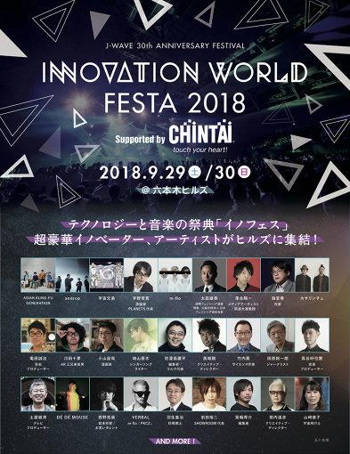『INNOVATION WORLD FESTA 2018』フライヤー