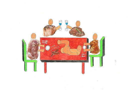 『にんげんレストラン』ビジュアル