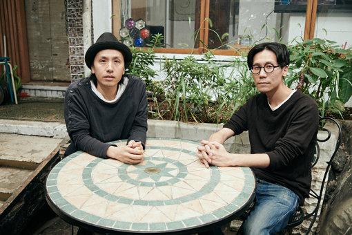 左から:卯城竜太(Chim↑Pom)、中島晴矢