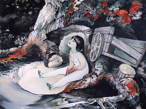 近藤聡乃『KiyaKiya_painting02』キャンバスに油彩 76×102cm 2011