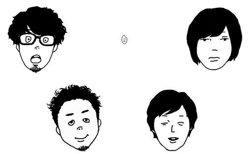 キュウソネコカミの新アー写。5人組なのに4人…と思いきや、ヤマサキセイヤ(Vo,Gt)は、中央の米粒に変身していた