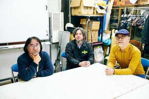 左から:岸野雄一、出口亮太、佐藤直樹