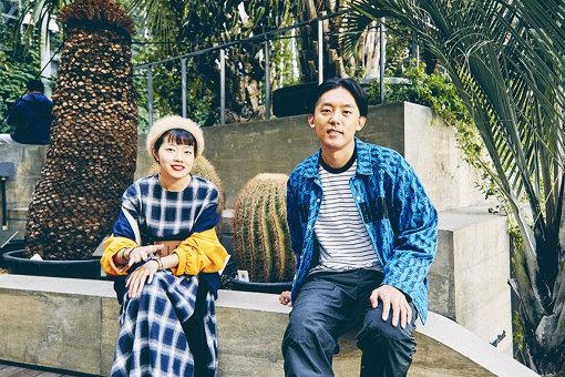 左から、砂糖シヲリ、KEN THE 390。銀座ソニーパーク内にて。
